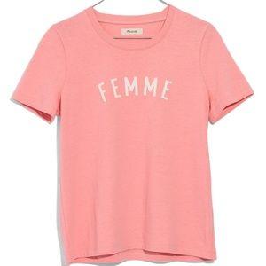 Madewell xl pink femme punk shirt feminist power